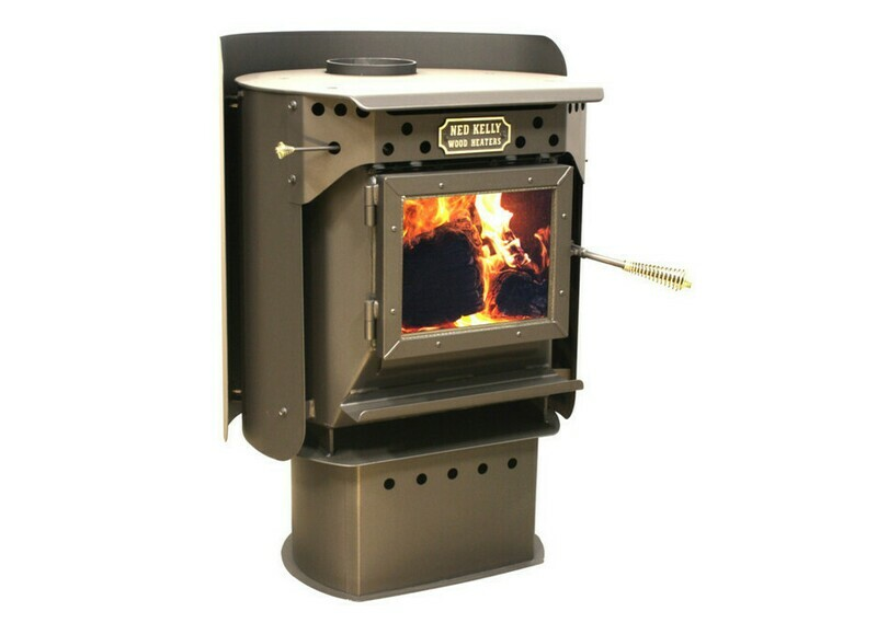 NEW Ned Kelly Wood Heater OUTLAW with 3 speed fan