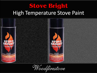 STOVEBRITE High Temperature Stove Paint 340gm Aerosol- Colour SATIN BLACK *FREE SHIPPING