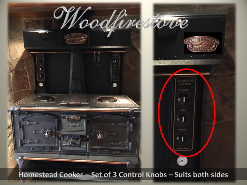 HOMESTEAD COOKER Control Knobs (Set of 3) to suit models WE1 & WE2
