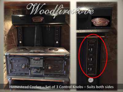 HOMESTEAD COOKER Control Knobs - Set of 3 to suit models WE1 & WE2 *Free Shipping