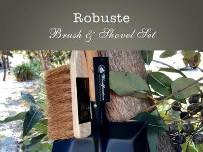 ROBUSTE - BRUSH & LARGE SHOVEL SET - Fireplace