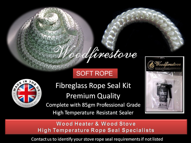 WOOD STOVE & HEATER Fibreglass DOOR ROPE SEAL KIT (6mm) - 2 Metres *Free Shipping