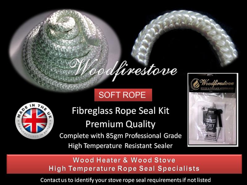 WOOD STOVE & HEATER Fibreglass DOOR ROPE SEAL KIT (18mm) - 2 Metres *Free Shipping