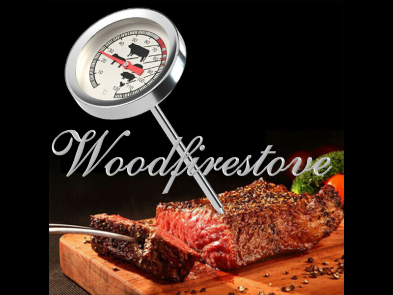 Meat Cooking Thermometer Temperature Gauge - Stainless Steel