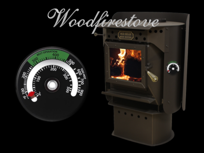 Wood Heater Wood Stove Magnetic Temperature Thermometer Temperature Gauge B & G *Free Shipping
