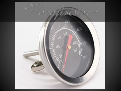 Wood Stove Oven & Pizza Oven Black Face Oven Thermometer Temperature Gauge *Free Shipping