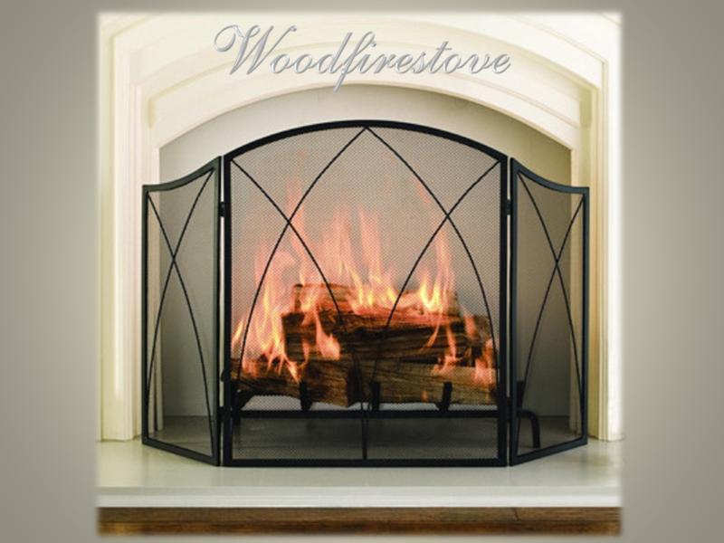 CHALEUR PROMINENT Firescreen Wrought Iron Style Spiral Arch 3 panel folding fireplace screen/guard
