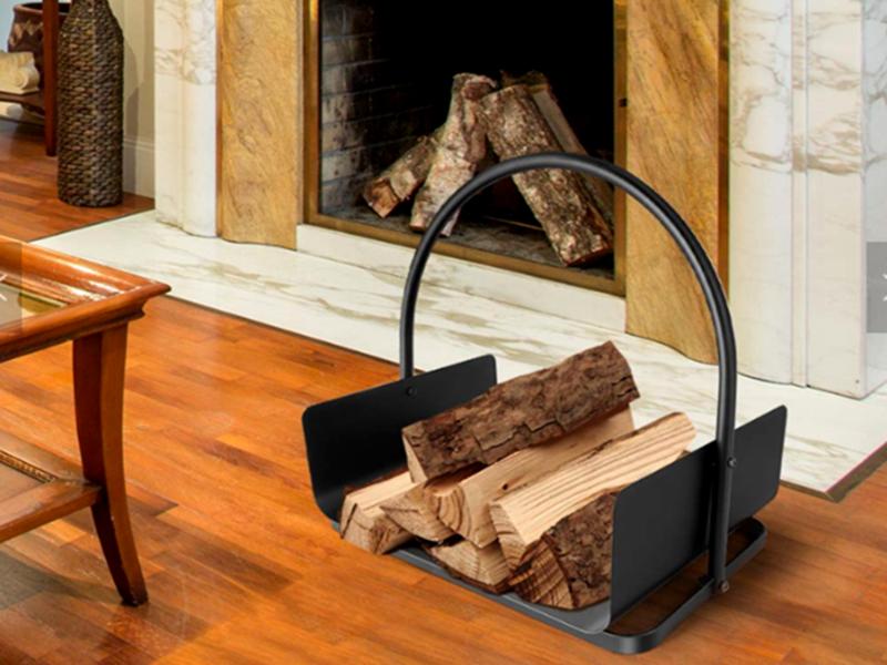 WARRANWOOD Indoor Log Rack with Carrier / Wood Holder FIREWOOD STORAGE