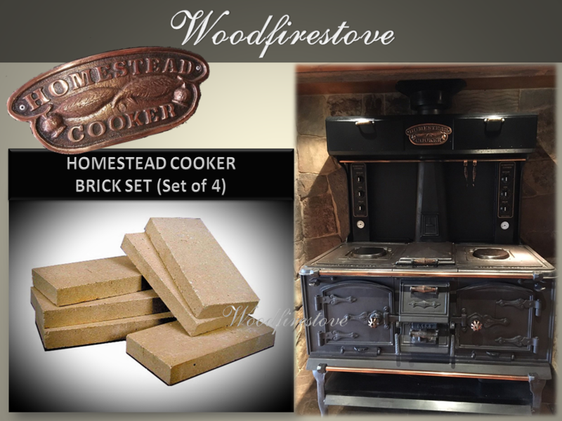 HOMESTEAD COOKER - REPLACEMENT FIREBRICK SET - to suit Models WE1 & WE2