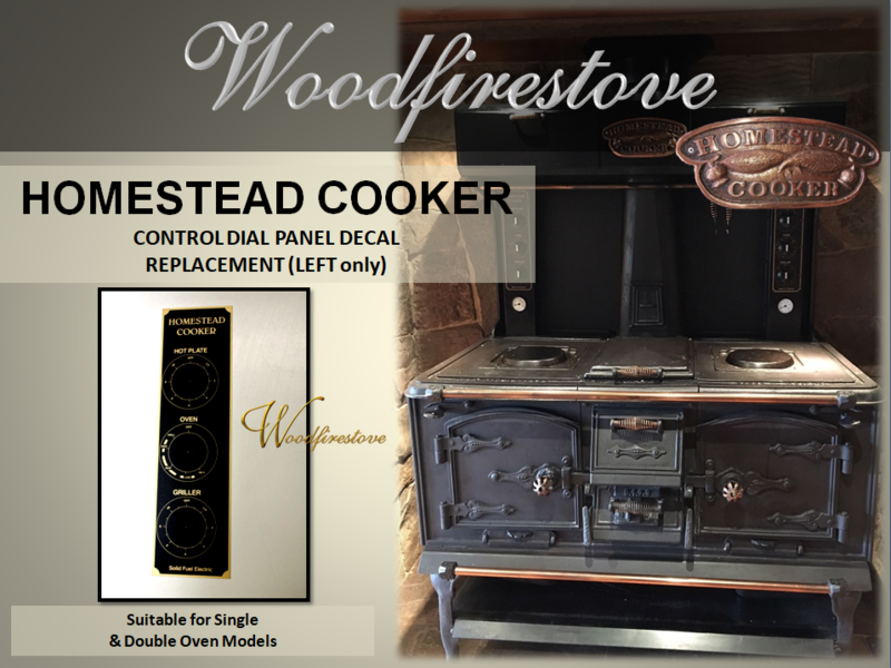 HOMESTEAD COOKER - REPLACEMENT CONTROL DIAL PANEL DECAL (Left only) to suit Models WE1 & WE2