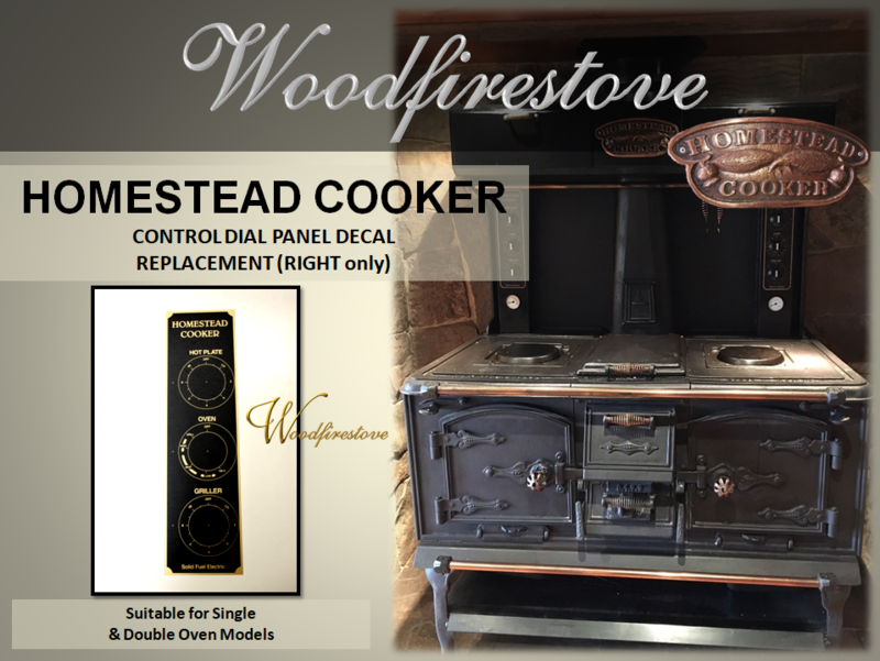 HOMESTEAD COOKER - REPLACEMENT CONTROL DIAL PANEL DECAL (Right only) to suit Models WE1 & WE2