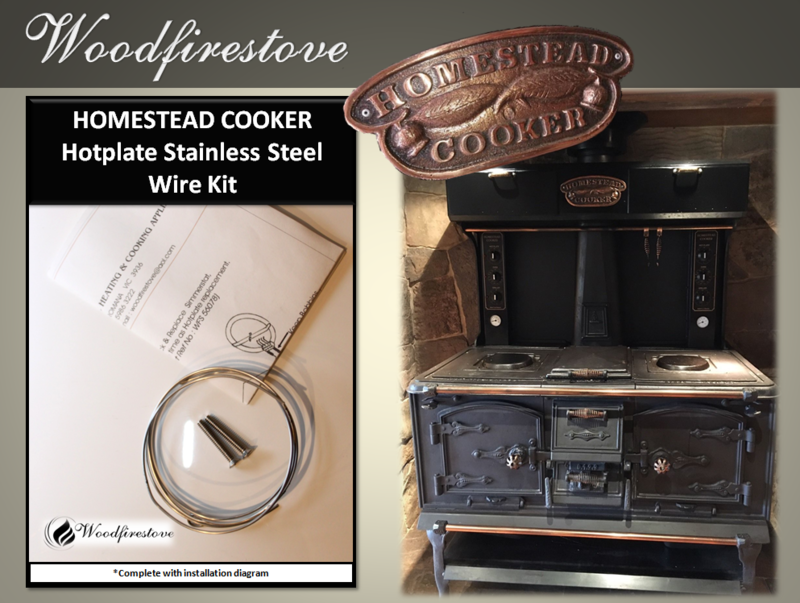 HOMESTEAD COOKER - Hotplate Element Stainless Steel Wire Kit (to suit Models WE1 & WE2)