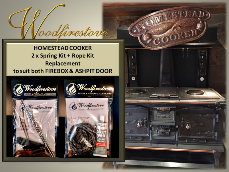HOMESTEAD COOKER  (Set of 2) SPRING KIT and ROPE KIT for FIREBOX & ASHPIT DOOR to suit Models WE1 & WE2