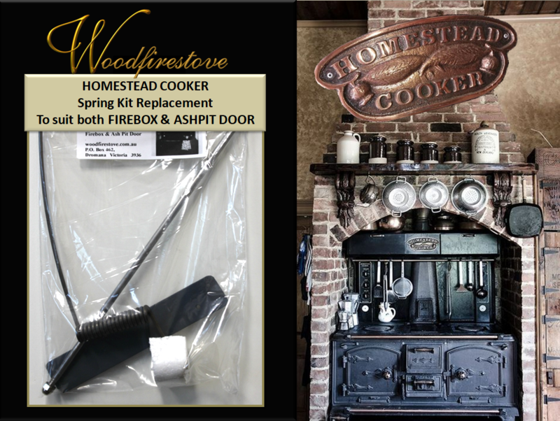 HOMESTEAD COOKER - Single SPRING KIT for FIREBOX & ASHPIT DOOR to suit Models WE1 & WE2