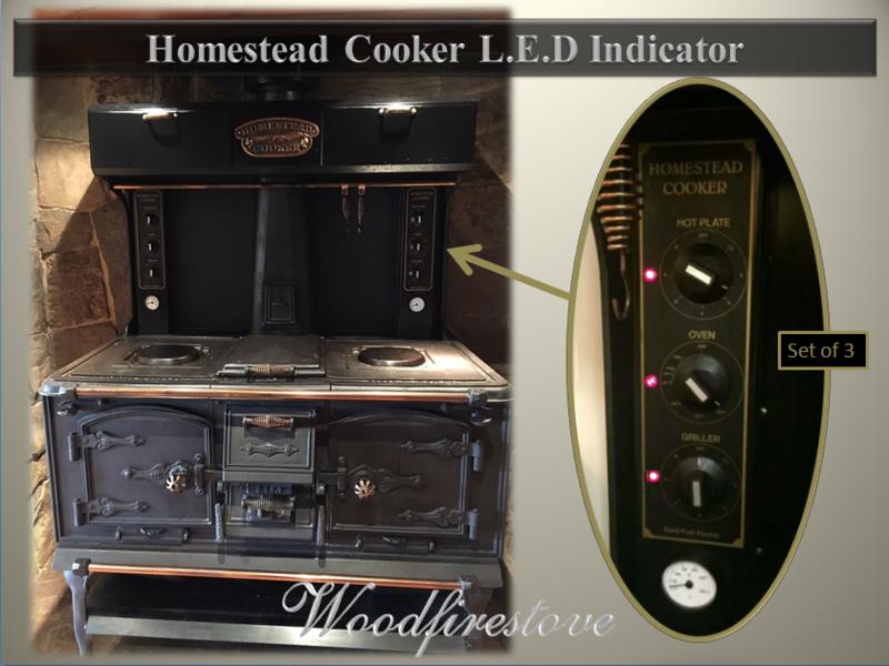 HOMESTEAD COOKER - 3 x L.E.D. INDICATOR - to suit Models WE1 & WE2