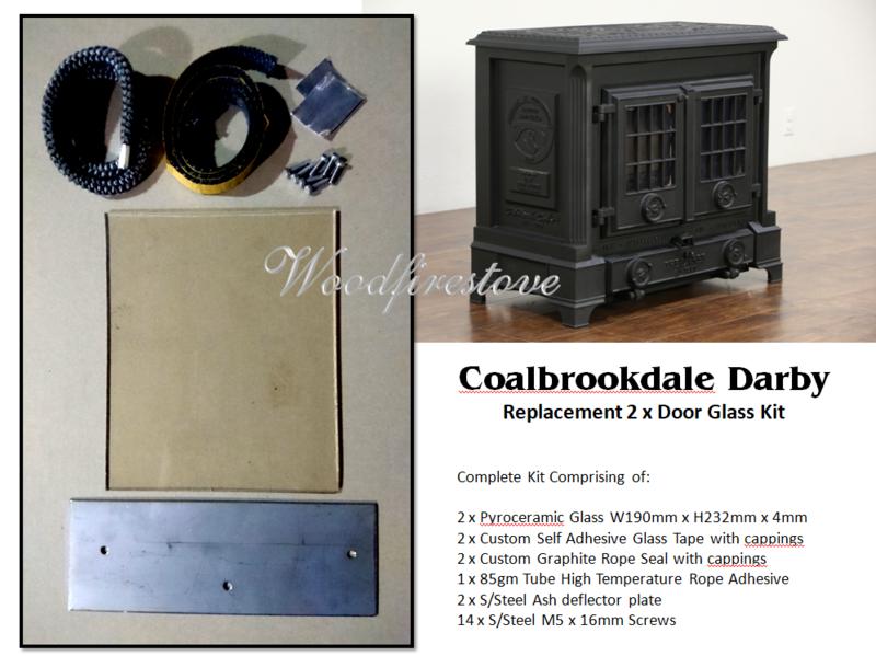 Coalbrookdale Darby 2 x Door Replacement Glass Kit