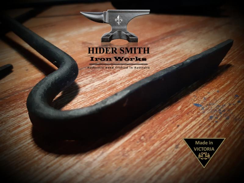 Sebire AUTHENTIC HAND MADE FIREPLACE RAKE TOOL Wrought Iron *Australian Made