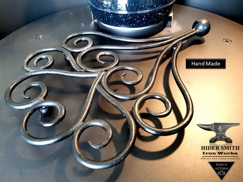 Sebire AUTHENTIC HAND MADE Large TRIVET Wrought Iron *Australian Made