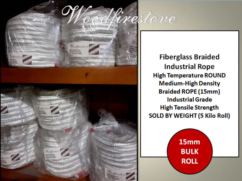 15mm Fiberglass Braided Industrial Rope Medium-High Desity Industrial High Tensile Fibreglass ROUND Braided ROPE (5 Kilo Roll)
