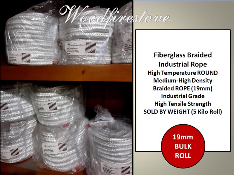 19mm Fiberglass Braided Industrial Rope Medium-High Desity Industrial High Tensile Fibreglass ROUND Braided ROPE (5 Kilo Roll)
