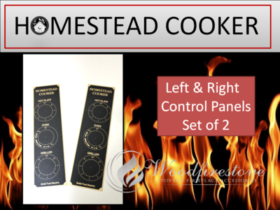 HOMESTEAD COOKER = REPLACEMENT CONTROL DIAL PANEL DECAL (Set of 2 Left & Right) to suit Models WE1 & WE2 *Free Shipping