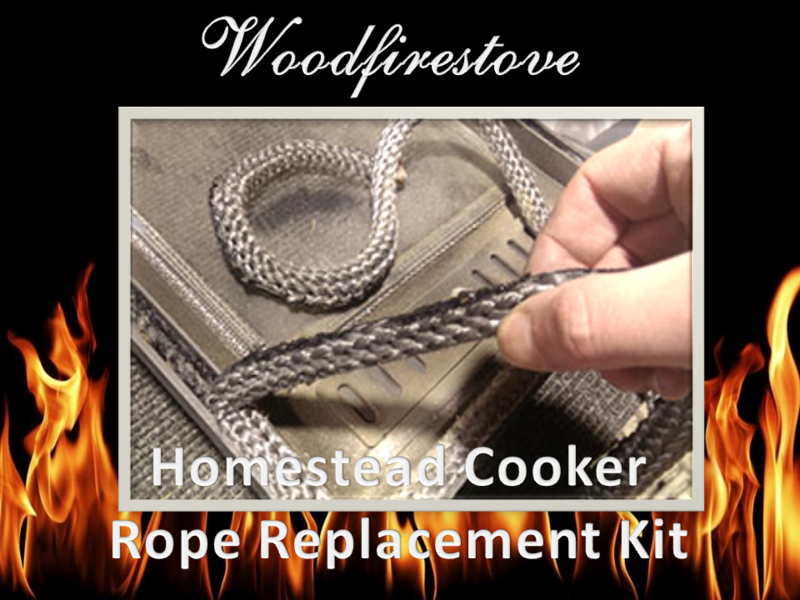 HOMESTEAD COOKER = (WE101) SINGLE OVEN ROPE REPLACEMENT KIT= to suit Models WE1*Free Shipping