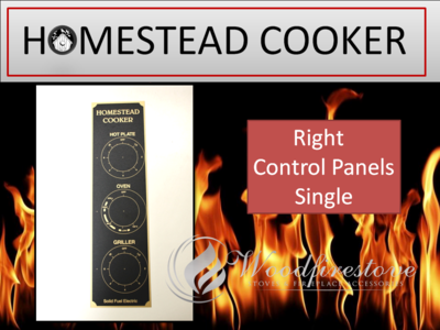 HOMESTEAD COOKER = REPLACEMENT CONTROL DIAL PANEL DECAL (Right only) to suit Models WE1 & WE2 *Free Shipping