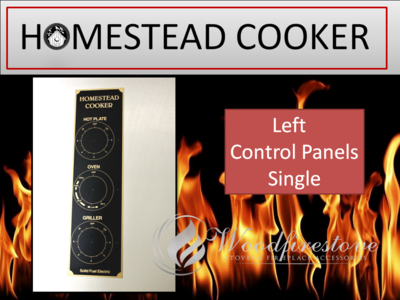 HOMESTEAD COOKER = REPLACEMENT CONTROL DIAL PANEL DECAL (Left only) to suit Models WE1 & WE2 *Free Shipping