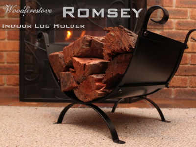 ROMSEY Indoor Log Rack / Wood Holder FIREWOOD STORAGE * FREE SHIPPING