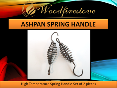 Fireplace ASH PAN SPRING HANDLE UNIVERSAL High Temperature Resistant (set of 2) *Free Shipping