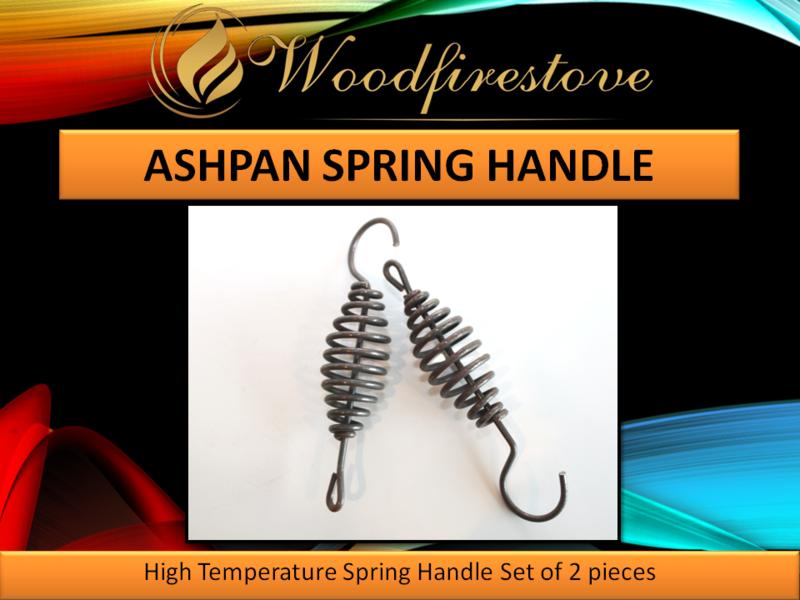 Fireplace ASH PAN SPRING HANDLE UNIVERSAL High Temperature Resistant (set of 2)