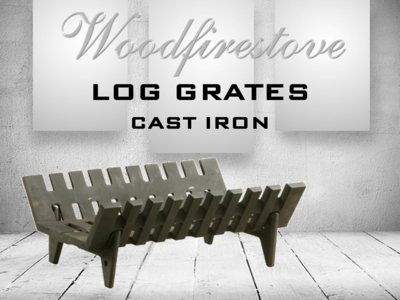 LOG GRATE - CAST IRON HEAVY DUTY (Length 765mm)