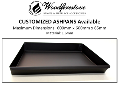 Fireplace ASH PAN **CUSTOMIZED HEAVY DUTY 1.6mm steel (up to L600mm x W600mm H65mm) - ASHPANS *Free Shipping Australia