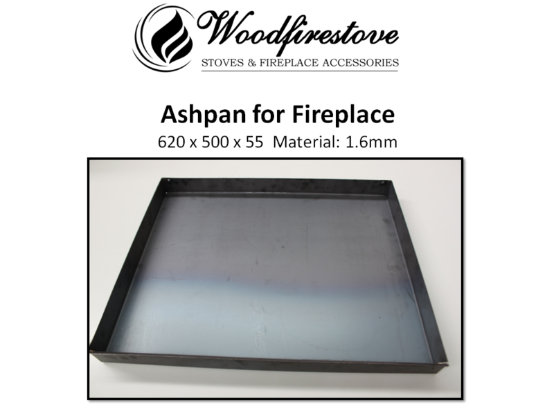 Fireplace ASH PAN 1.6mm steel  (620 x 500 x 55mm) - ASHPANS *Free Shipping Australia