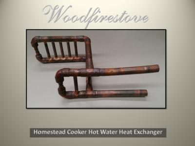 HOMESTEAD COOKER / KANGAROO STOVE = HOT WATER HEAT (Double) EXCHANGER *FREE SHIPPING