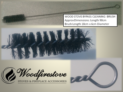 WOOD STOVE BYPASS CLEANING  BRUSH - Universal  *Free Shipping