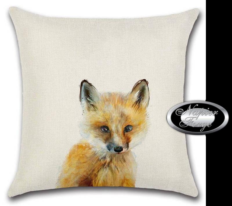 Farmhouse Cotton Linen Cushion 45cm x 45cm - Design Fox Glance *Free Shipping
