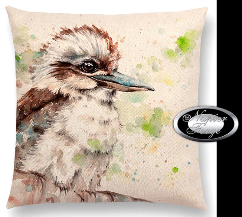 Farmhouse Cotton Linen Cushion 45cm x 45cm - Design Artists Kookaburra *Free Shipping