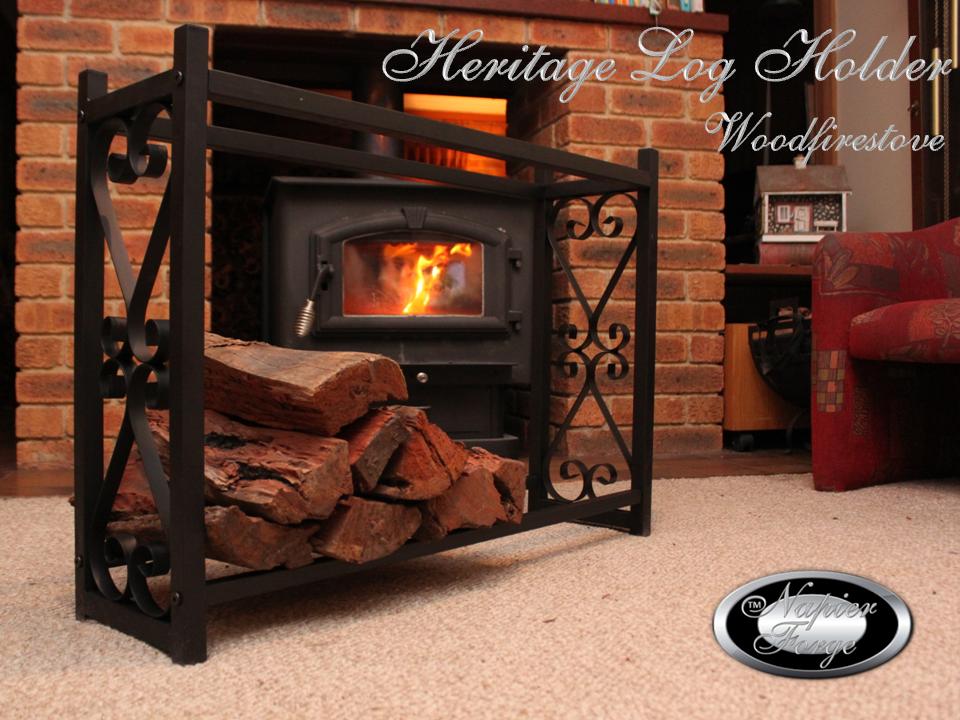 HERITAGE Indoor Log Rack / Wood Holder FIREWOOD STORAGE * FREE SHIPPING