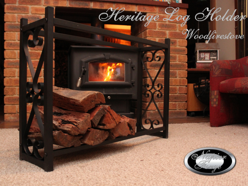 HERITAGE Indoor Log Rack / Wood Holder FIREWOOD STORAGE