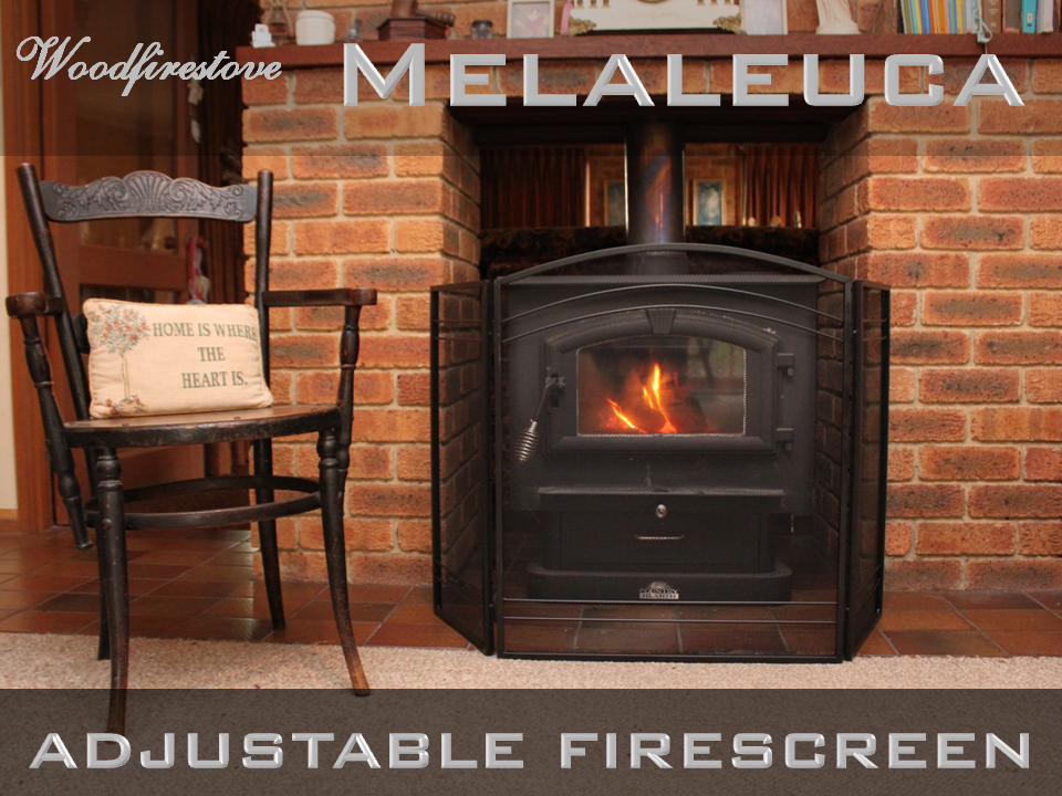 MELALEUCA Firescreen Iron Arched Design 3 panel folding fireplace screen *FREE SHIPPING