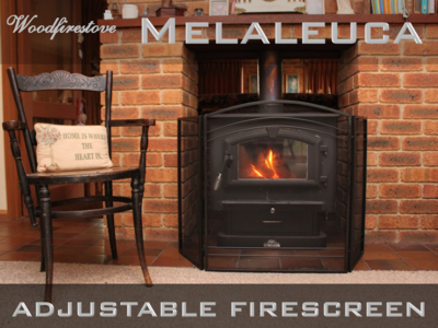 MELALEUCA Firescreen Iron Arched Design 3 panel folding fireplace screen *FREE SHIPPING