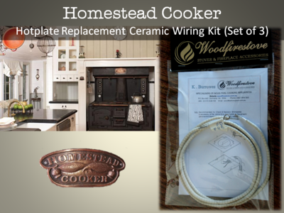 HOMESTEAD COOKER Hotplate Ceramic Wiring Kit (Set of 3) Replacement to suit models WE1 & WE2