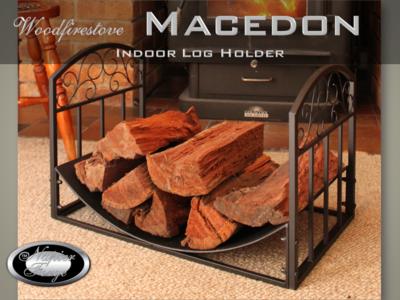 MACEDON Indoor Log Rack / Wood Holder FIREWOOD STORAGE * FREE SHIPPING
