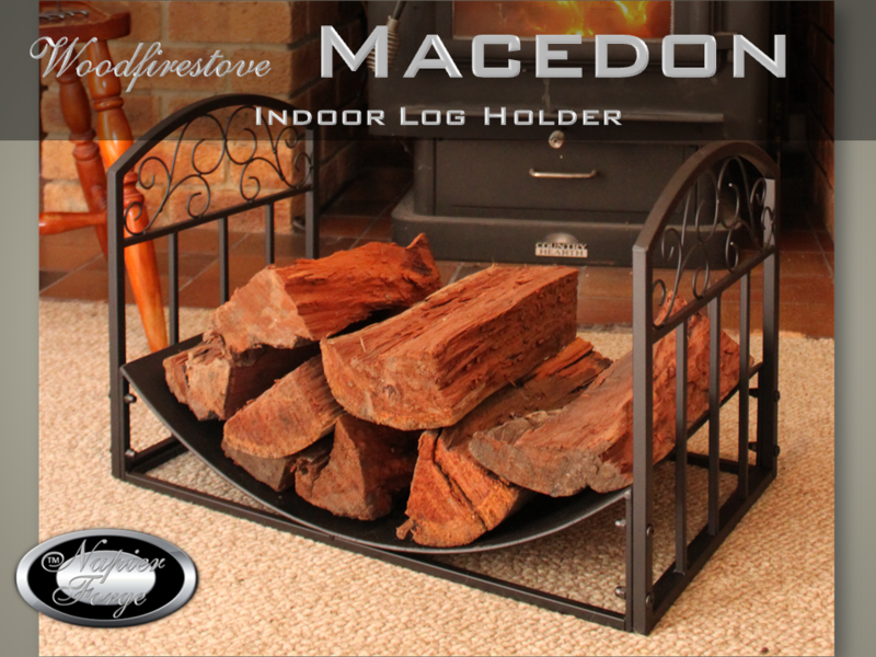 MACEDON Indoor Log Rack / Wood Holder FIREWOOD STORAGE