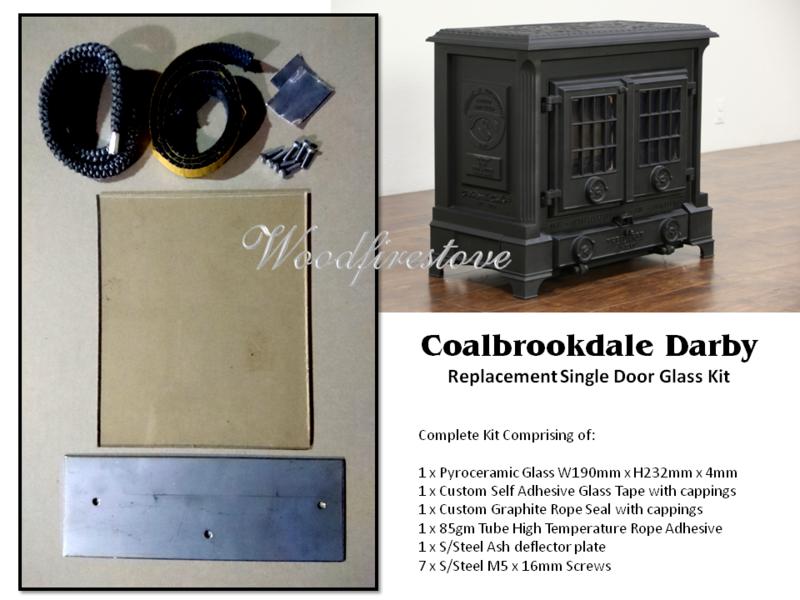Coalbrookdale Darby Single Door Replacement Glass Kit