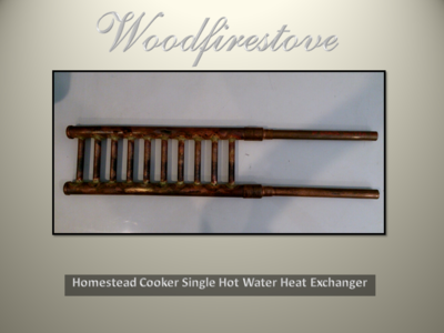 HOMESTEAD COOKER / KANGAROO STOVE = HOT WATER HEAT (Single) EXCHANGER *FREE SHIPPING
