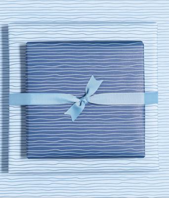 Geschenkbogen «Wasser» - doppelseitig