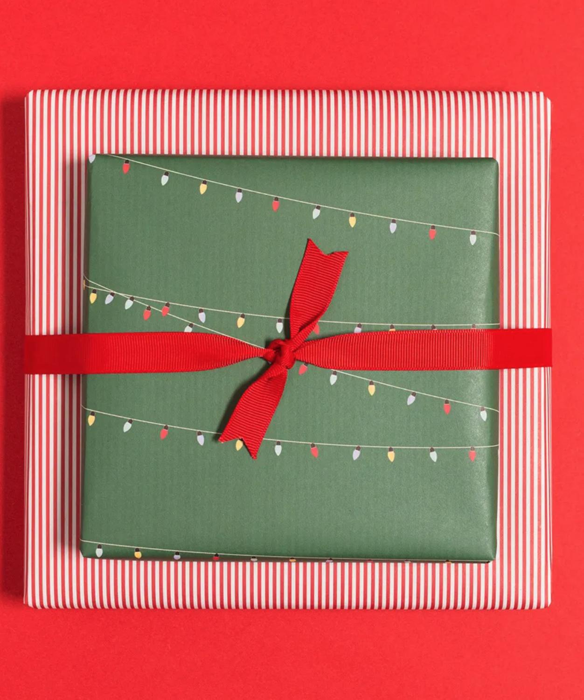 Geschenkpapier «Lichterkette» - doppelseitig