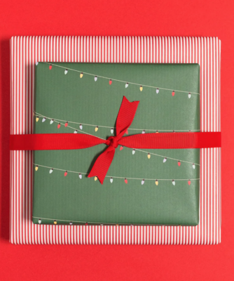 Geschenkbogen «Lichterkette» - doppelseitig